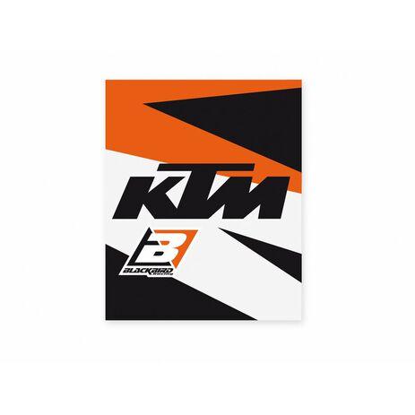 _Fundas Protectoras Puños Blackbird Réplica Team Trophy KTM   5016R-517   Greenland MX_