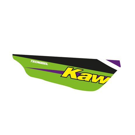 _Kit Adhesivos + Funda de Asiento Tecnosel Replica Team Kawasaki 1998 KX 125/250 94-98 | 84V02 | Greenland MX_