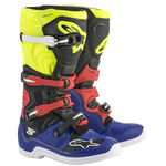 _Botas Alpinestars Tech 5 Azul/Negro/Am.Fluor/Rojo | 2015015-7153 | Greenland MX_