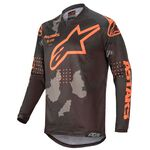_Jersey Alpinestars Racer Tactical 2020 Negro/Camuflaje/Naranja Flúor   3761220-1144   Greenland MX_