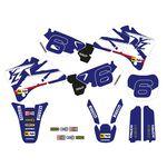 _Kit Adhesivos + Funda de Asiento Tecnosel Replica Team Yamaha 1998 YZ 125/250 96-01 | 82V02 | Greenland MX_
