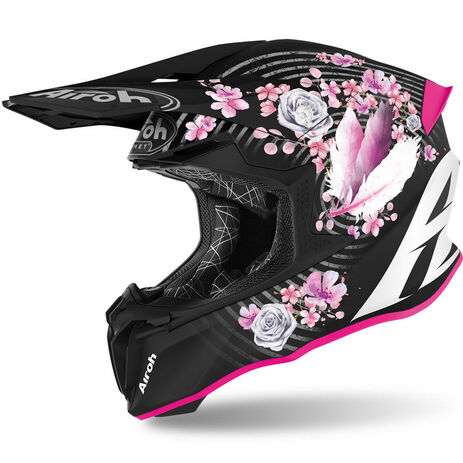 _Casco Airoh Twist 2.0 Mad Mate Negro/Rosa | TW2M54 | Greenland MX_