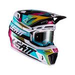_Casco con Gafas Leatt Moto 8.5 V22 Turquesa | LB1022010110-P | Greenland MX_