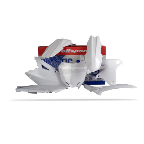_Kit Plásticos Polisport Suzuki RMZ 450 08-15 Blanco   90145   Greenland MX_