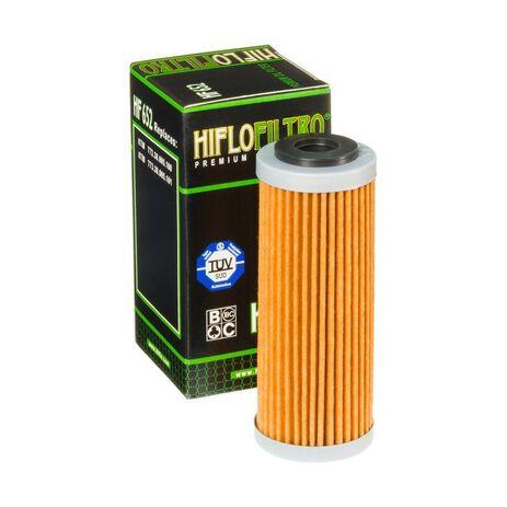 _Filtro de Aceite Hiflofiltro KTM EXC-F 250 14-.. SX-F 250 13-.. SX-F 350 11-.. | HF652 | Greenland MX_