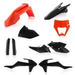 _Full Kit Plásticos Acerbis KTM EXC/EXC-F 17-19 Negro/Naranja | 0022371.313-P | Greenland MX_