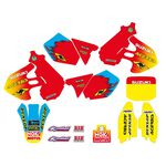 _Kit Adhesivos + Funda de Asiento Tecnosel Replica Team Suzuki 1999 RM 125/250 99-00 | 83V03 | Greenland MX_