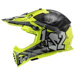 _Casco LS2 Fast EVO MX437 Crusher Negro/Amarillo Fluor | 404373412-P | Greenland MX_