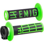 _Puños ODI MX Lock On V2 Emig 4T Negro/Verde | H34EMBN | Greenland MX_