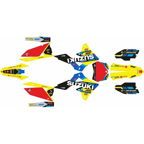 _Kit Adhesivos Completo Suzuki RMZ 250 19-20 RMZ 450 18-20 JGR Edition | SK-SRMZ4501820JGRR-P | Greenland MX_
