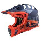 _Casco LS2 MX437 Fast EVO XCode Naranja Flúor/Azul | 404373752 | Greenland MX_