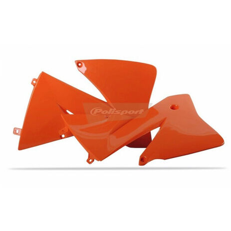_Tapas Radiador Polisport KTM EXC 125/200/250/300/380 01-02 Naranja | 8422000003 | Greenland MX_