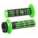 _Puños ODI MX Lock On V2 Emig 2T Negro/Verde | H32EMBN | Greenland MX_