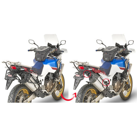 _Portamaletas Lateral Fijación Rápida Maletas Monokey o Retro Fit Honda CRF 1000 L Africa Twin 18-1 | PLR1161 | Greenland MX_