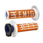 _Puños ODI MX Lock On V2 Emig 2/4 T Naranja/Blanco | H36EMOW | Greenland MX_