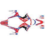 _Kit Adhesivos Completo Kit Restyling Polisport Honda CR 250 R 02-07 Blanco | SK-CR250PLRKWT-P | Greenland MX_