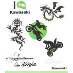 _Kit de Tatuajes Infantiles Kawasaki | 226SPM0017 | Greenland MX_