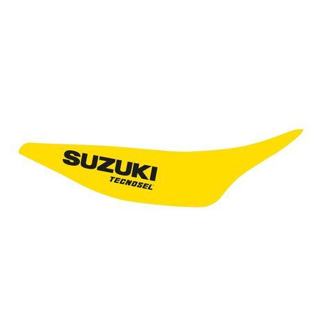 _Kit Adhesivos + Funda de Asiento Tecnosel Replica Team Suzuki 1993 RM 125/250 93-95 | 83V01 | Greenland MX_