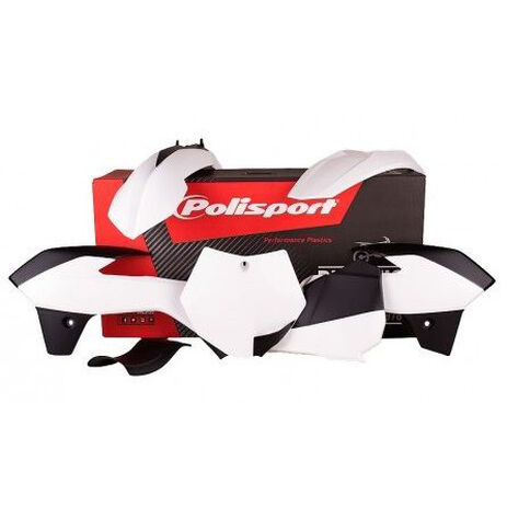 _Kit Plásticos Polisport KTM 85 2013-14 Blanco | 90556 | Greenland MX_