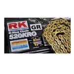 _Cadena RK 520 KRO Reforzada con Retenes 120 Pasos Serie Oro | HB752040120G | Greenland MX_