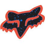 _Adhesivo Fox Logo Splatter Naranja/Azul (44 mm) | 14899-592-OS | Greenland MX_
