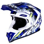 _Casco Scorpion VX-16 Air Waka Negro/Blanco/Azul | 46-287-116 | Greenland MX_