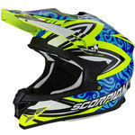 _Casco Scorpion VX-15 Evo Air Revenge Amarillo Flúor/Azul/Negro XL | 35-217-180-XL | Greenland MX_