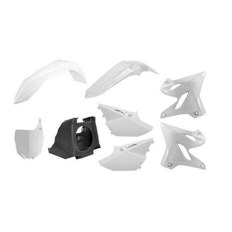 _Kit Plásticos Polisport MX Restyling Yamaha YZ 125/250 02-14 a 15-18 Blanco | 90717-P | Greenland MX_