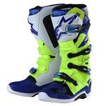 _Botas Troy Lee Designs Alpinestar TECH 7 Amarillo Fluo/Azul/Blanco | 9391985300 | Greenland MX_