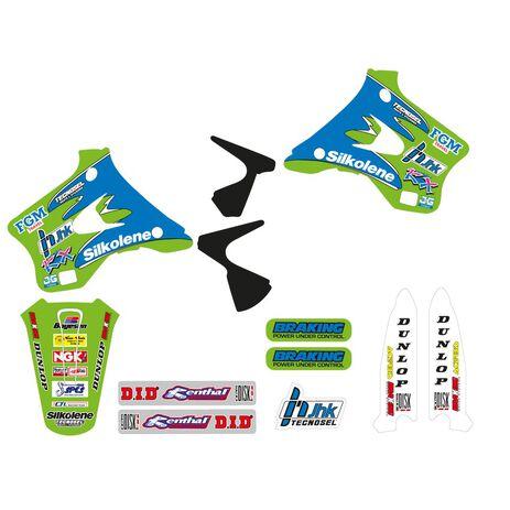 _Kit Adhesivos Tecnosel Replica Team Kawasaki 1996 KX 125/250 94-98 | 24V01 | Greenland MX_