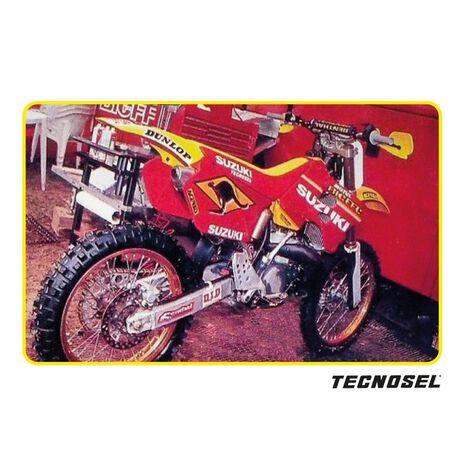 _Kit Adhesivos + Funda de Asiento Tecnosel Replica Team Suzuki 1998 RM 125/250 96-98 | 83V02 | Greenland MX_