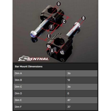 _Torretas Manillar Renthal 36 mm Zero Off Set 5 mm Honda CR/CRF 00-.. Yam. YZ 14-20 F Kaw. KX 17-20.. | CL052 | Greenland MX_