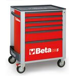 _Cajonera Móvil con 6 Cajones Beta Tools Rojo | C24S-6-R-P | Greenland MX_