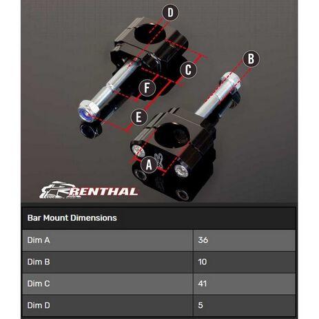 _Torretas Manillar Renthal 36 mm KTM SX/SX-F 16-20 Husqvarna FC/TC 18-20 | CL060 | Greenland MX_