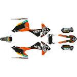 _Kit Adhesivos Completo KTM EXC/EXC-F 17-19 WESS Naranja/Negro | SK-KTEXC1719WSORBK-P | Greenland MX_