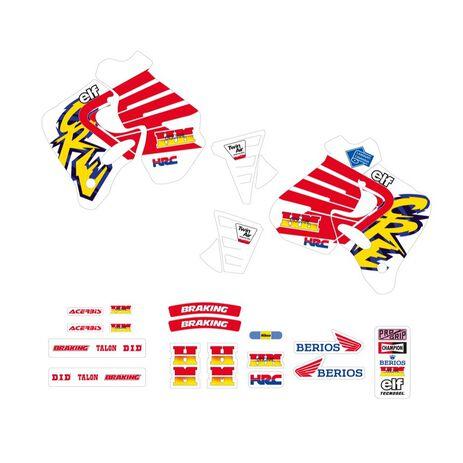_Kit Adhesivos Tecnosel Replica Team Enduro Honda 1994 CR 125 93-94 CR 250 92-94   21V05   Greenland MX_