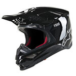 _Casco Alpinestars Supertech M8 Solid Negro Brillante | 8300519-1180 | Greenland MX_