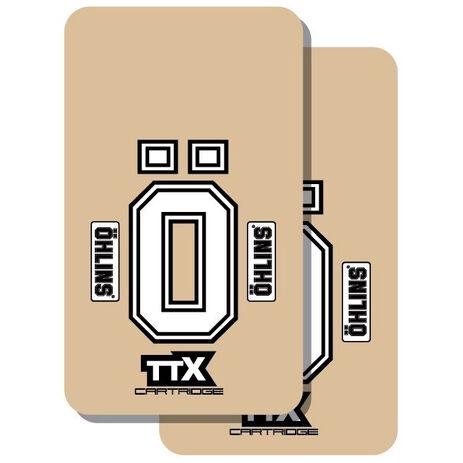_Adhesivos TJ Vinilo Transparente Horquilla ÖHLINS TTX | TJFOH | Greenland MX_
