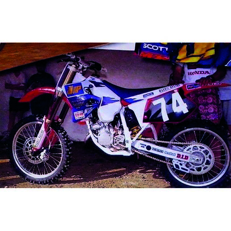 _Kit Adhesivos + Funda de Asiento Tecnosel Replica Team Honda Maddii 1995 CR 125 95-97 250 95-96   81V07   Greenland MX_