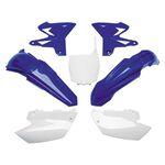 _Kit Plásticos Restyling UFO Yamaha YZ 125/250 02-14 Azul/Blanco | YAKIT312-999 | Greenland MX_