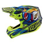 _Casco Troy Lee SE4 Composite Eyeball Azul Marino/Amarillo | 10515601-P | Greenland MX_