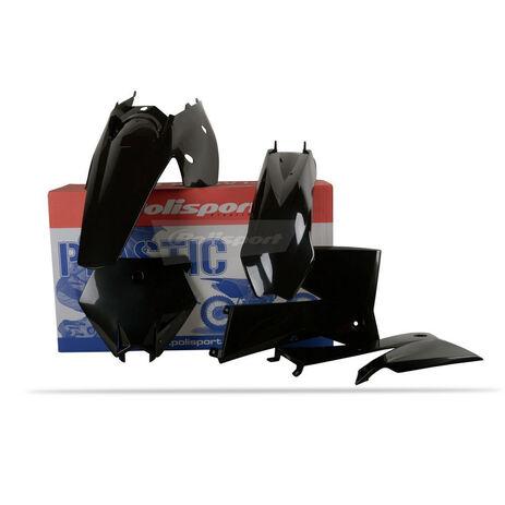 _Kit Plásticos Polisport KTM SX 05-06 EXC/EXC-F 05-07 Negro | 90195 | Greenland MX_