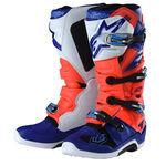 _Botas Troy Lee Designs Alpinestar TECH 7 Rojo Flúor/Blanco/Azul | 9391984300 | Greenland MX_