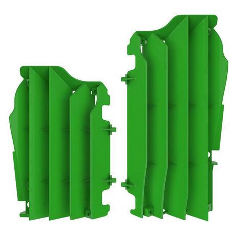 _Kit Rejillas Radiador Kawasaki KX 250 F 17-18 KX 450 F 12-15 Verde 05   8461600002   Greenland MX_