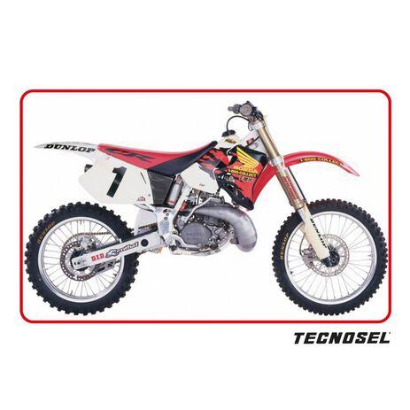 _Kit Adhesivos + Funda de Asiento Tecnosel Replica Team Honda 1995 USA CR 125 95-97 250 95-96 | 81V03 | Greenland MX_