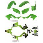 _Kit Plásticos Restyling Polisport + Kit de Adhesivos Kawasaki KX 125/250 03-08 | KIT-PAPR-3 | Greenland MX_