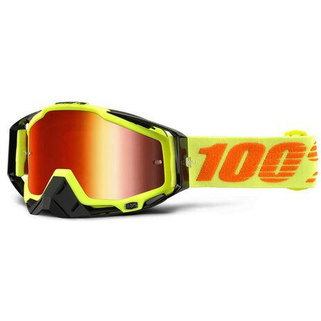 _Gafas 100% Racecraft Attack Amarillo Flúor Mirror | 50110-026-02 | Greenland MX_
