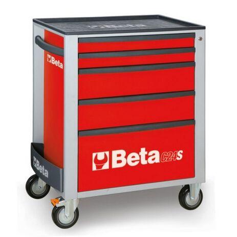 _Cajonera Móvil con 5 Cajones Beta Tools Rojo | C24S-5-R-P | Greenland MX_