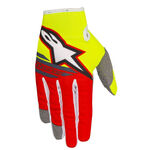 _Guantes Alpinestars Radar Flight Amarillo Flúor/Rojo | 3561818-539-P | Greenland MX_