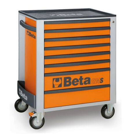 _Cajonera Móvil con 8 Cajones Beta Tools Naranja   C24S-8-O-P   Greenland MX_